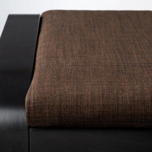 ПОЭНГ Табурет для ног, черно-коричневый/Шифтебу коричневый - Артикул: 293.028.13