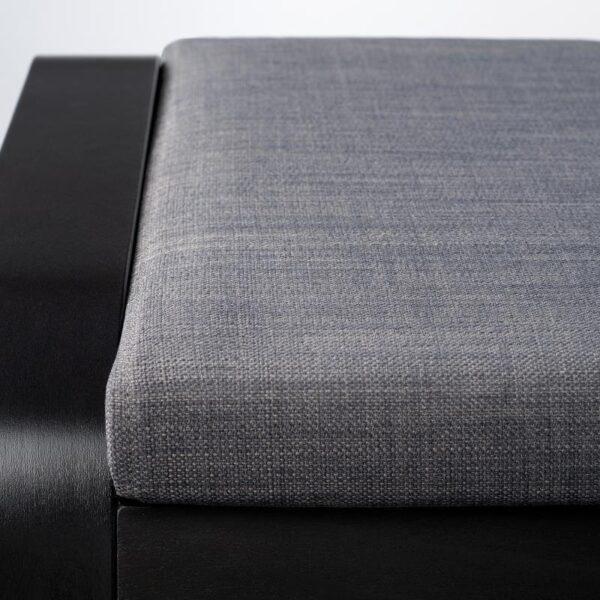 ПОЭНГ Табурет для ног, черно-коричневый/Шифтебу темно-серый - Артикул: 493.028.12