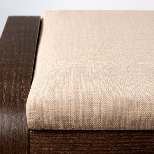ПОЭНГ Табурет для ног, коричневый/Шифтебу бежевый - Артикул: 593.028.16