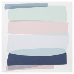 ФРИДЕНЭ Картина, светло-зеленый светло-розовый/светло-сиреневый 30x30 см - Артикул: 604.487.28