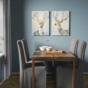 ПЬЕТТЕРИД Картина, Разноцветный олень 50x70 см - Артикул: 804.382.43