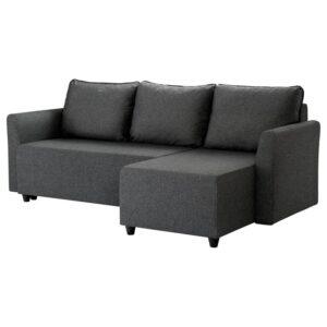 БРИССУНД Диван-кровать с козеткой, Рудорна темно-серый - Артикул: 804.481.81