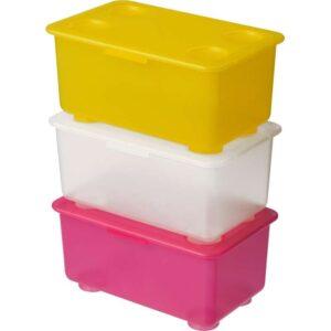 ГЛИС Контейнер с крышкой розовый/белый/желтый 17x10 см - Артикул: 703.659.92