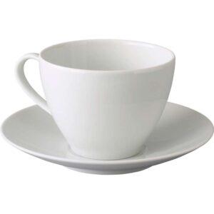 ВЭРДЕРА Чашка чайная с блюдцем белый 36 сл - Артикул: 203.940.39