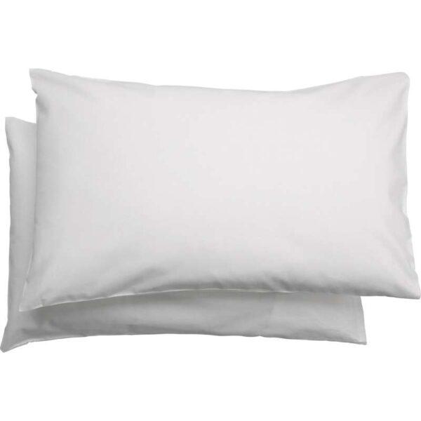 ЛЕН Наволочка в детскую кроватку, белый 35x55 см. Артикул: 204.026.28