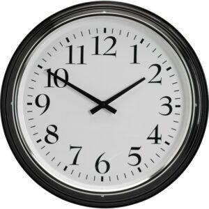 БРАВУР Настенные часы черный - Артикул: 003.919.42