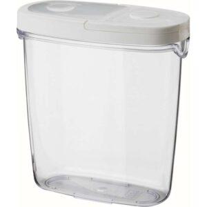 ИКЕА/365+ Контейнер+крышка д/сухих продуктов прозрачный/белый 1.3 л - Артикул: 503.762.13