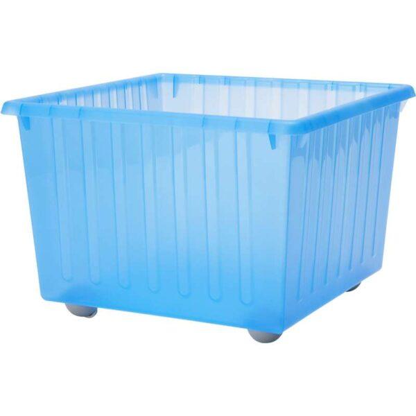 ВЕССЛА Ящик на колесах синий 39x39 см - Артикул: 003.660.37