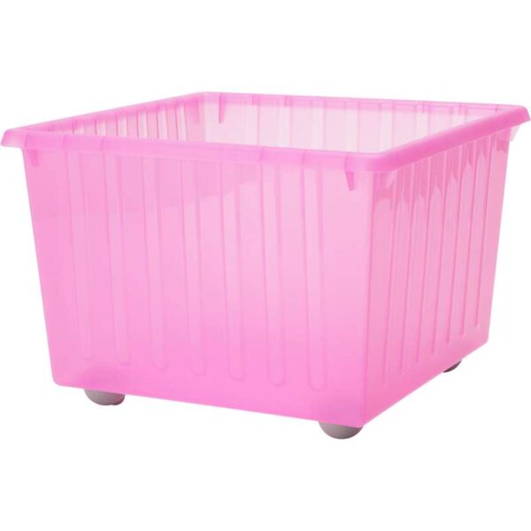 ВЕССЛА Ящик на колесах светло-розовый 39x39 см - Артикул: 603.660.39