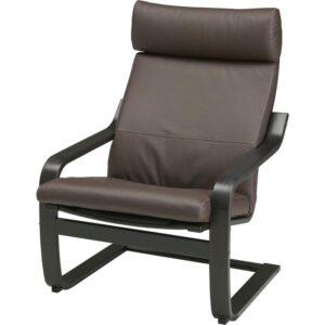 ПОЭНГ Кресло черно-коричневый/Глосе темно-коричневый - Артикул: 292.514.65