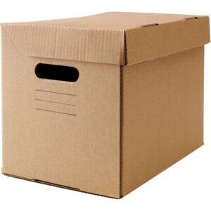 ПАППИС Коробка с крышкой коричневый 25x34x26 см - Артикул: 303.762.28