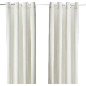 МЕРЕТЕ Гардины, 1 пара белый 145x300 см - Артикул: 103.705.95
