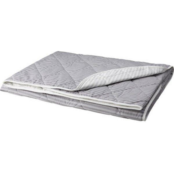 АКСВЕРОНИКА Покрывало полоска/серый 180x220 см - Артикул: 903.621.10