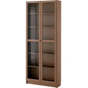БИЛЛИ / ОКСБЕРГ Стеллаж коричневый ясеневый шпон 80x202x30 см - Артикул: 092.435.51