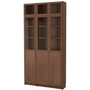 БИЛЛИ / ОКСБЕРГ Стеллаж коричневый ясеневый шпон 120x237x30 см - Артикул: 392.435.59