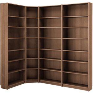 БИЛЛИ Стеллаж коричневый ясеневый шпон 215/135x237x28 см - Артикул: 092.439.90