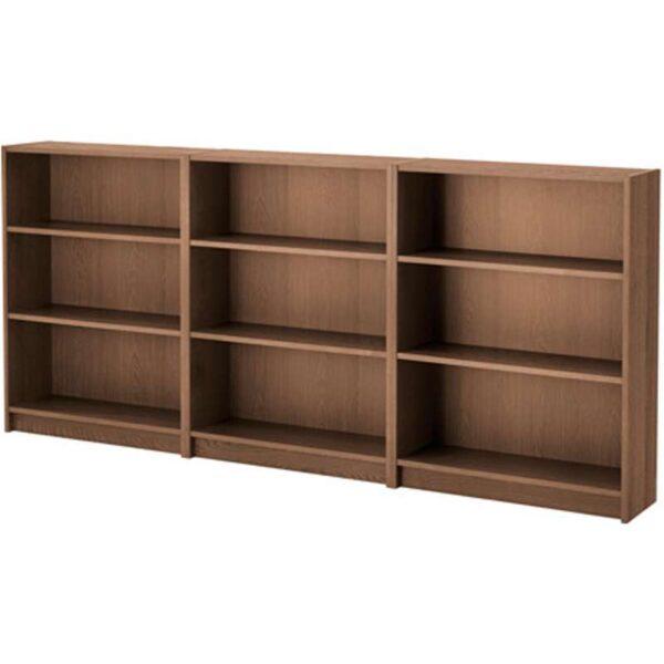 БИЛЛИ Стеллаж коричневый ясеневый шпон 240x106x28 см - Артикул: 192.435.41