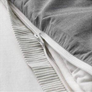 БЛОВИНДА Пододеяльник и 2 наволочки, серый 200x200/50x70 см. Артикул: 003.280.69
