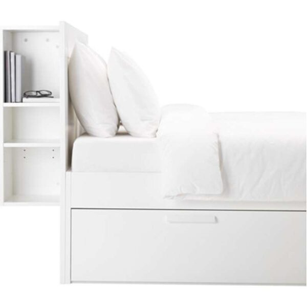 БРИМНЭС Каркас кровати с изголовьем, белый 160x200 см. Артикул: 392.107.33