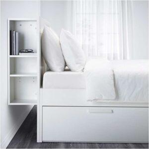 БРИМНЭС Каркас кровати с изголовьем, белый + ламели Лурой, 140x200 см. Артикул: 292.107.24