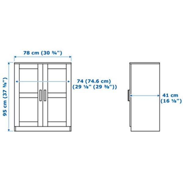 БРИМНЭС Шкаф с дверями черный 78x95 см - Артикул: 203.842.43