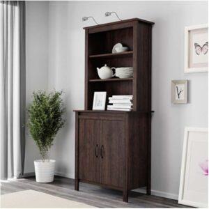 БРУСАЛИ Высокий шкаф с дверцей коричневый 80x190 см - Артикул: 603.796.16