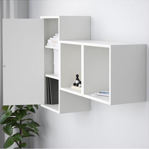 ЭКЕТ Комбинация настенных шкафов белый 105x25x70 см - Артикул: 891.888.19