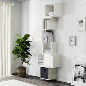 ЭКЕТ Комбинация настенных шкафов белый 80x35x210 см - Артикул: 791.890.32
