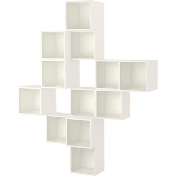 ЭКЕТ Комбинация настенных шкафов белый 175x35x210 см - Артикул: 091.890.35