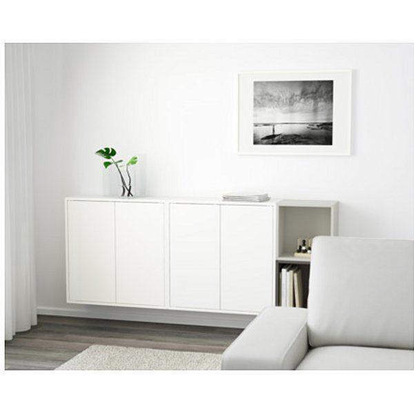 ЭКЕТ Комбинация настенных шкафов белый/темно-серый/светло-серый 175x25x70 см - Артикул: 291.909.00