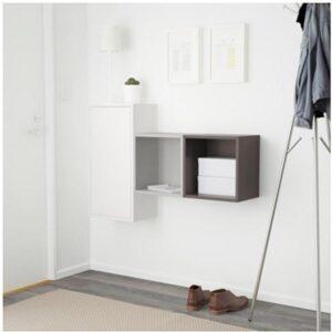 ЭКЕТ Комбинация настенных шкафов белый/темно-серый/светло-серый 105x25x70 см - Артикул: 091.890.83