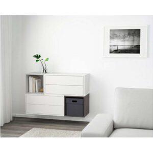 ЭКЕТ Комбинация настенных шкафов белый/светло-серый/темно-серый 105x35x70 см - Артикул: 391.910.46