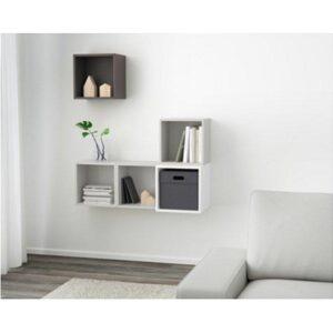 ЭКЕТ Комбинация настенных шкафов белый/светло-серый/темно-серый 105x35x120 см - Артикул: 491.891.18