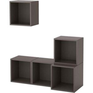 ЭКЕТ Комбинация настенных шкафов темно-серый 105x35x120 см - Артикул: 291.891.00