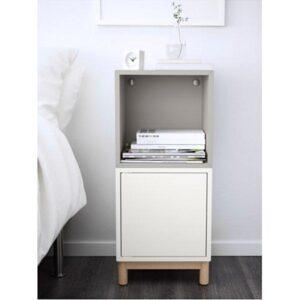 ЭКЕТ Комбинация шкафов с ножками белый/светло-серый 35x35x80 см - Артикул: 691.907.19