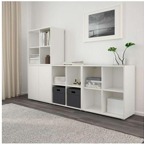 ЭКЕТ Комбинация шкафов с ножками белый 210x35x142 см - Артикул: 191.894.74