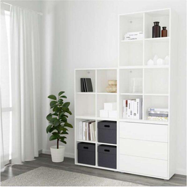 ЭКЕТ Комбинация шкафов с ножками белый 140x35x212 см - Артикул: 691.903.28