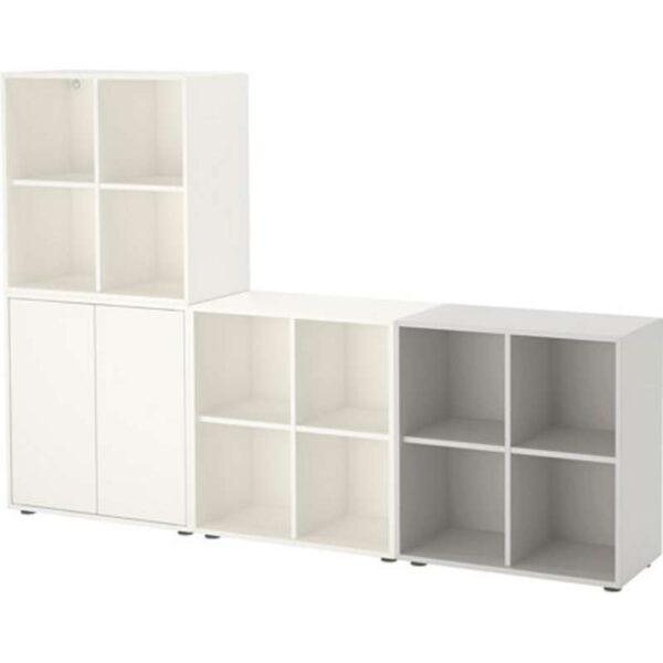 ЭКЕТ Комбинация шкафов с ножками белый/светло-серый 210x35x142 см - Артикул: 191.909.34