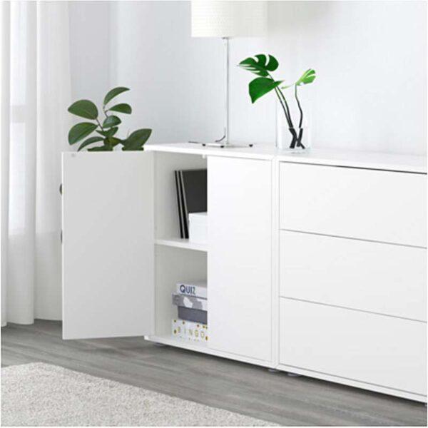 ЭКЕТ Комбинация шкафов с ножками белый/светло-серый/темно-серый 280x35x72 см - Артикул: 291.910.18