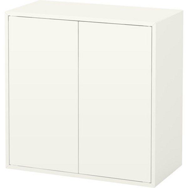 ЭКЕТ Шкаф с 2 дверцами и 1 полкой белый 70x35x70 см - Артикул: 203.593.90