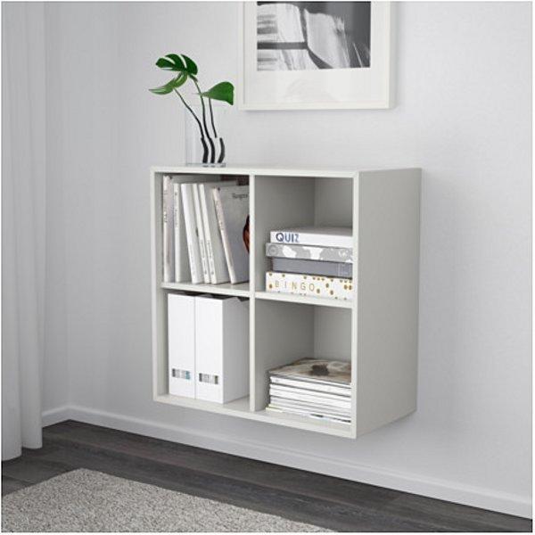 ЭКЕТ Шкаф с 4 отделениями светло-серый 70x35x70 см - Артикул: 303.593.56