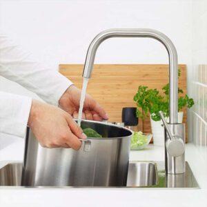 ЭЛМАРЕН Смеситель кухонный цвет нержавеющей стали - Артикул: 803.557.18