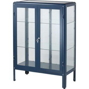 ФАБРИКОР Шкаф-витрина черно-синий синий 81x113 см - Артикул: 503.631.78