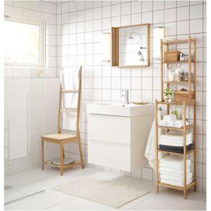 ГОДМОРГОН Шкаф для раковины с 2 ящ глянцевый белый 60x47x58 см - Артикул: 903.690.03