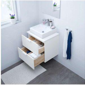 ГОДМОРГОН Шкаф для раковины с 2 ящ белый 60x47x58 см - Артикул: 403.690.05
