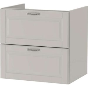 ГОДМОРГОН Шкаф для раковины с 2 ящ Кашён светло-серый 60x47x58 см - Артикул: 804.041.82