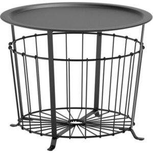 ГУАЛЁВ Столик с отделениями д/хранения черный 60 см - Артикул: 403.600.43