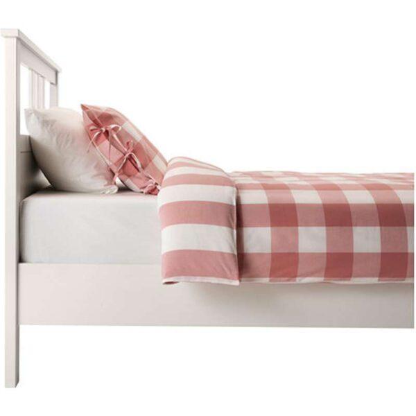 ХЕМНЭС Каркас кровати, белая морилка + ламели Лонсет, 90x200 см. Артикул: 192.108.09