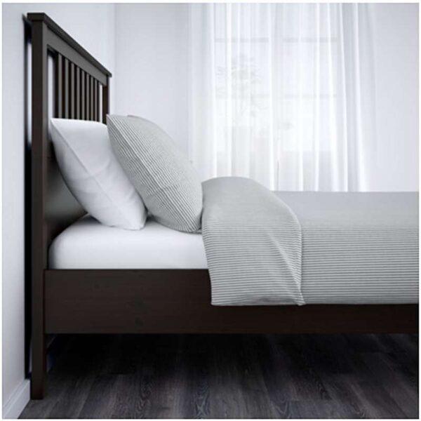 ХЕМНЭС Каркас кровати, черно-коричневый + ламели Лурой, 160x200 см. Артикул: 592.108.12