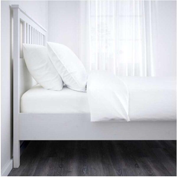 ХЕМНЭС Каркас кровати, белая морилка + ламели Лурой, 160x200 см. Артикул: 492.108.17